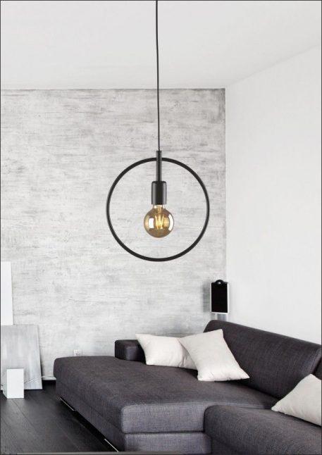 Tobik Lampa wisząca – Styl skandynawski – kolor Czarny