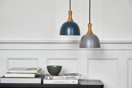 Topp  Lampa wisząca – Drewniane – kolor Szary