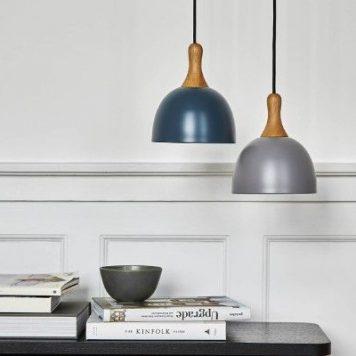 Topp Lampa wisząca – Styl skandynawski – kolor Szary