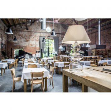 Torino  Lampa stołowa – Z abażurem – kolor biały, transparentny
