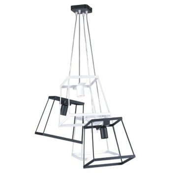 Tower  Lampa wisząca – Styl skandynawski – kolor biały, Czarny