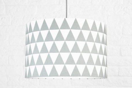 Trójkąty  Lampa wisząca – Z abażurem – kolor biały, Szary