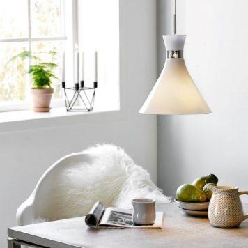 Trumpet Lampa wisząca – Styl skandynawski – kolor biały