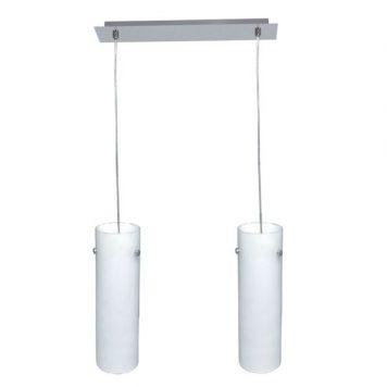 Tuba  Lampa wisząca – Styl nowoczesny – kolor biały, srebrny
