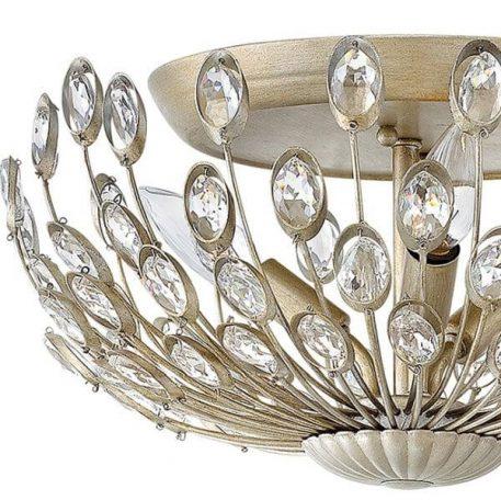 Tulah Lampa sufitowa – kryształowe – kolor srebrny, złoty