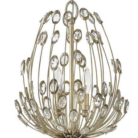Tulah Lampa wisząca – Styl glamour – kolor srebrny, złoty