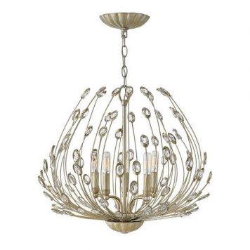 Tulah Żyrandol – Styl glamour – kolor srebrny, złoty
