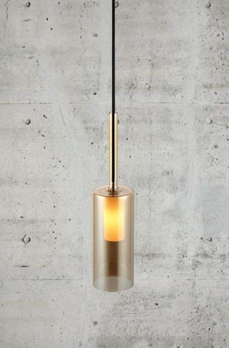 Turid 10 Lampa wisząca – szklane – kolor transparentny, złoty