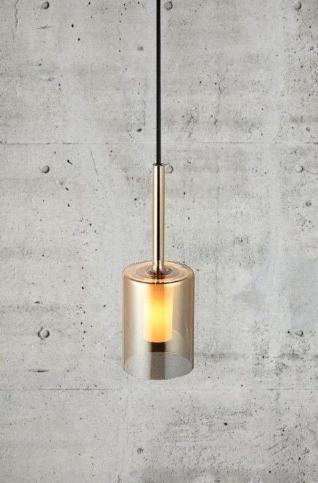 Turid Lampa wisząca – szklane – kolor transparentny, złoty