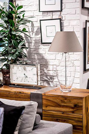 Valencia  Lampa modern classic – szklane – kolor beżowy, transparentny, Szary