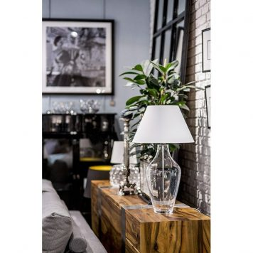 Valencia  Lampa nowoczesna – szklane – kolor biały, transparentny