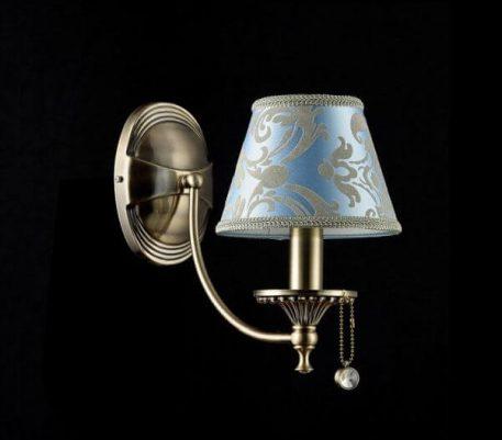 Vals Lampa klasyczna – klasyczny – kolor brązowy, Niebieski