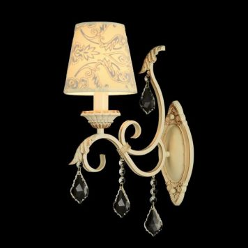 Velvet  Lampa klasyczna – Z abażurem – kolor beżowy, złoty