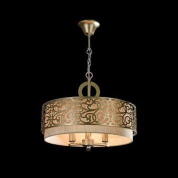 Venera Lampa wisząca – klasyczny – kolor beżowy, mosiądz, złoty