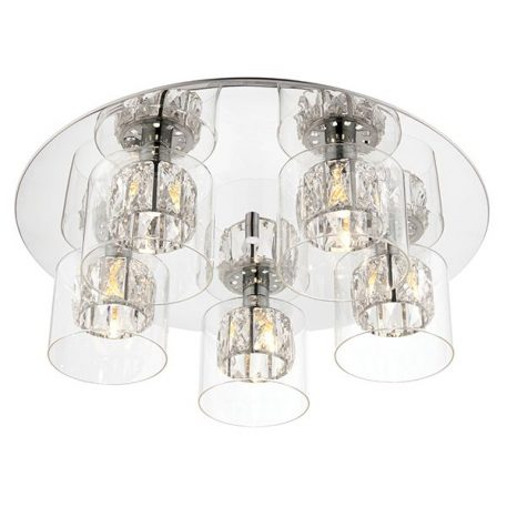 Verina  Lampa sufitowa – Styl nowoczesny – kolor srebrny, transparentny