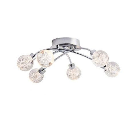 Versa  Lampa sufitowa – Lampy i oświetlenie LED – kolor srebrny, transparentny