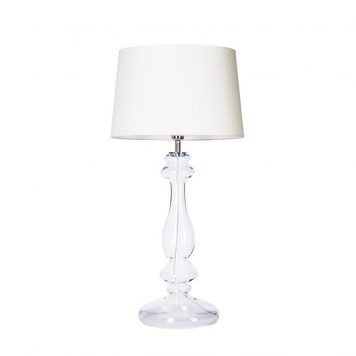 Versailles  Lampa modern classic – Styl glamour – kolor biały, transparentny