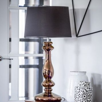 Versailles  Lampa modern classic – Styl glamour – kolor miedź, Czarny