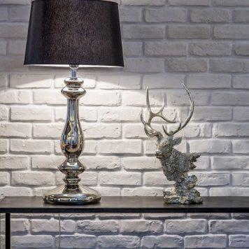 Versailles  Lampa modern classic – szklane – kolor srebrny, Czarny