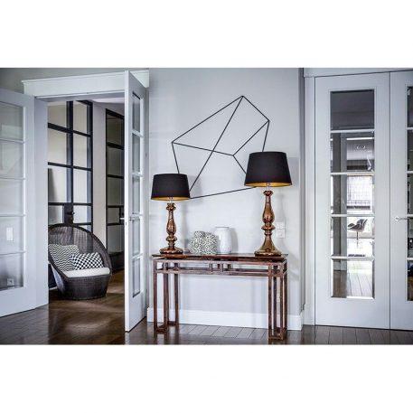 Versailles  Lampa modern classic – Z abażurem – kolor miedź, połysk, transparentny, Czarny