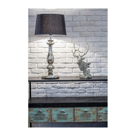 Versailles  Lampa modern classic – Z abażurem – kolor połysk, transparentny, Czarny, Szary