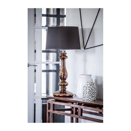 Versailles  Lampa stołowa – szklane – kolor miedź, połysk, Czarny