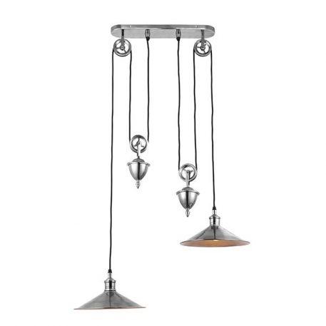 Victoria  Lampa wisząca – klasyczny – kolor srebrny