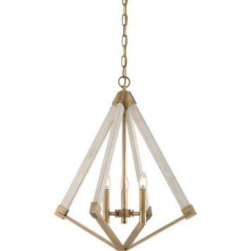 View Lampa wisząca – klasyczny – kolor biały, złoty
