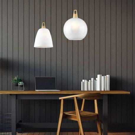 Vinto Lampa wisząca – szklane – kolor biały