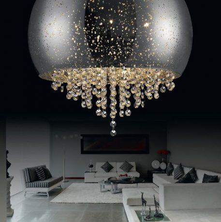 Vista Lampa sufitowa – Styl glamour – kolor srebrny