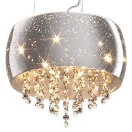 Vista Lampa wisząca – kryształowe – kolor srebrny