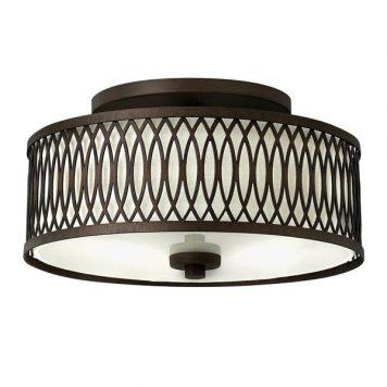 Walden Lampa sufitowa – Z abażurem – kolor beżowy, brązowy