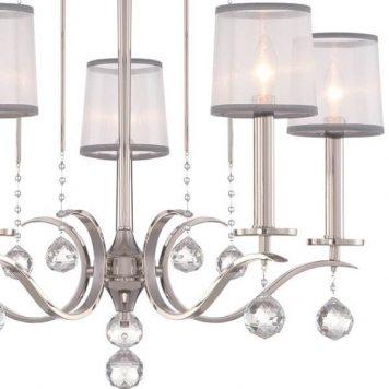 Whitney Żyrandol – klasyczny – kolor srebrny