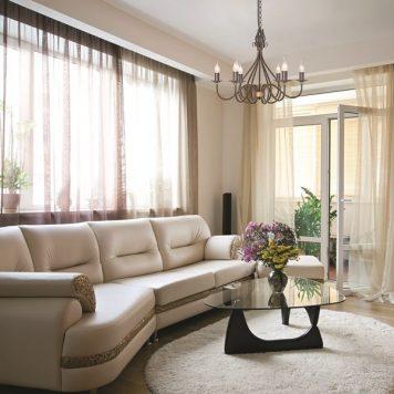 Windermere Żyrandol – klasyczny – kolor brązowy