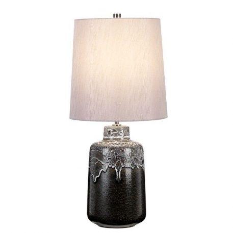 Woolwich  Lampa stołowa – Z abażurem – kolor srebrny, Szary