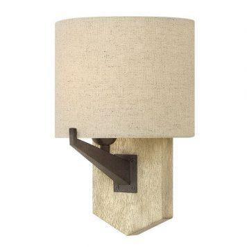 Wyatt Lampa klasyczna – Z abażurem – kolor beżowy, brązowy