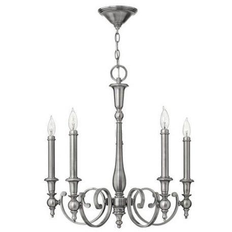 York Town Żyrandol – Świecznikowe – kolor srebrny