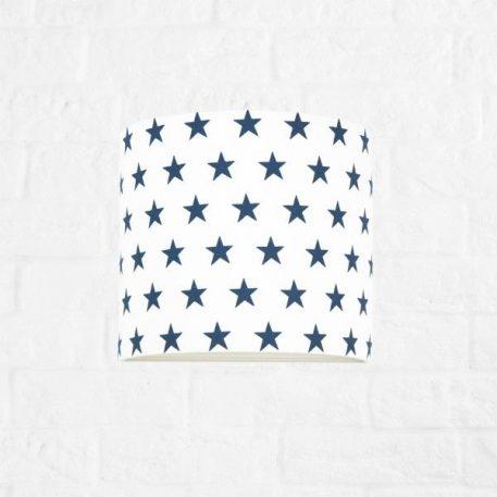 Young Lampa nowoczesna – Z abażurem – kolor biały, Niebieski