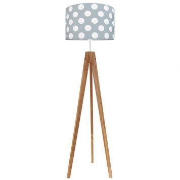 Young  Lampa podłogowa – Styl skandynawski – kolor biały, Szary