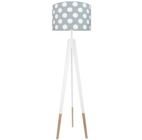 Young Lampa podłogowa – Z abażurem – kolor biały, brązowy, Szary