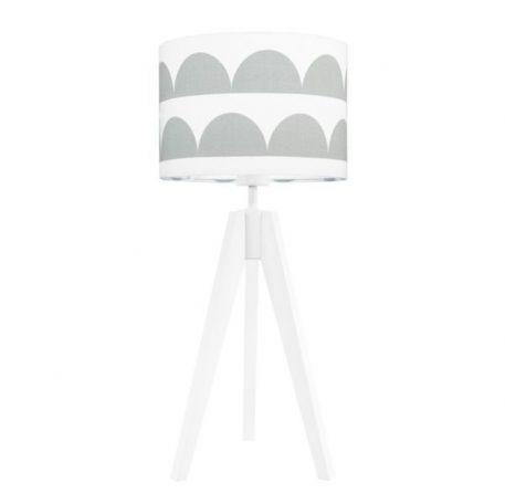Young  Lampa skandynawska – Z abażurem – kolor biały, Szary
