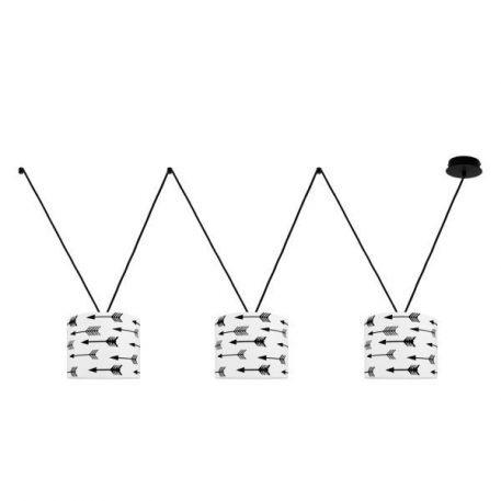 Young VVV Lampa wisząca – Plafony – kolor biały, Czarny