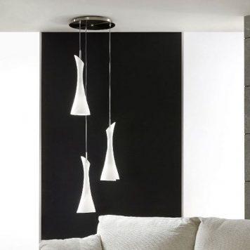 Zack Lampa wisząca – Styl nowoczesny – kolor biały