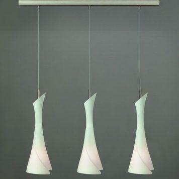 Zack Lampa wisząca – szklane – kolor biały