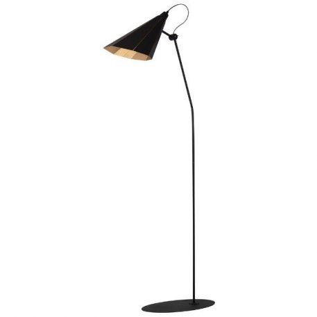 Zambia  Lampa podłogowa – Do czytania – kolor złoty, Czarny