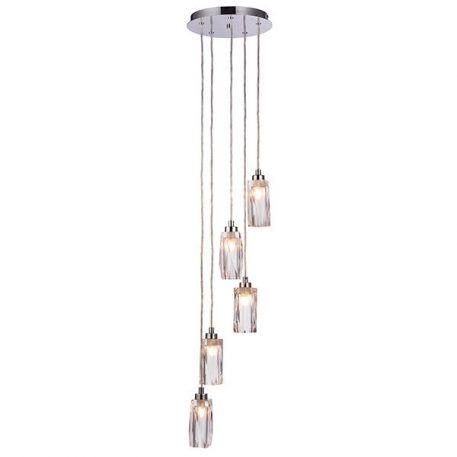 Zeus  Lampa wisząca – Styl nowoczesny – kolor srebrny, transparentny