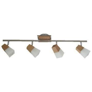 Zigi  Lampa sufitowa – szklane – kolor brązowy, srebrny