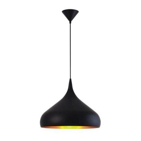 Zola  Lampa wisząca – Styl nowoczesny – kolor złoty, Czarny