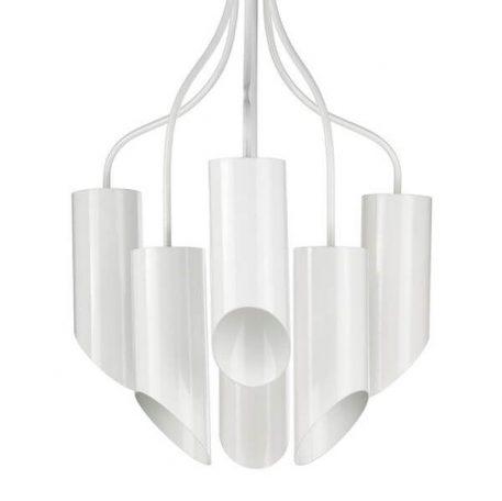 Żyrandol - biały metal, mosiądz - Ardant Decor