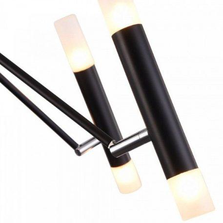 Żyrandol - czarny metal, mleczne szkło - Maytoni
